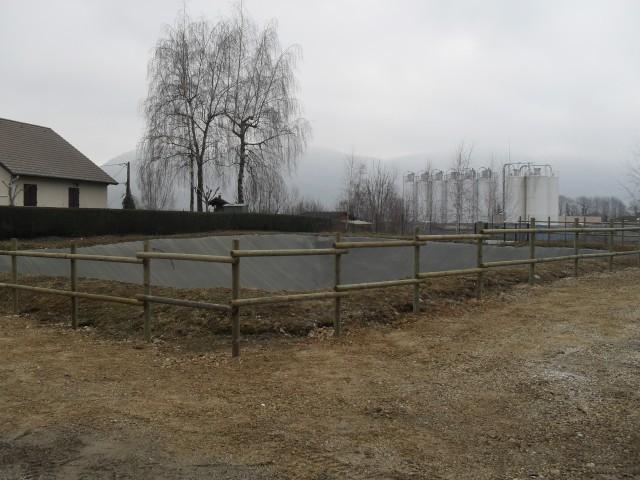 Chantier La Bridoire - clôtures bois