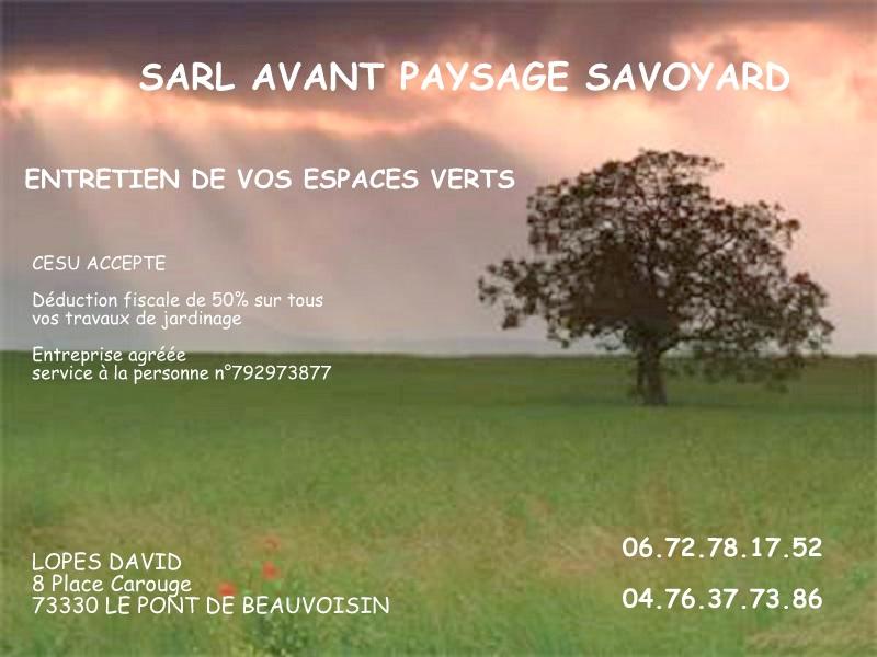 SARL Avant-paysage savoyard | Les Jardins du Buis David Lopes 73330 Le Pont de Beauvoisin, Domessin, services à la personne, défiscalisation, crédit d'impôts