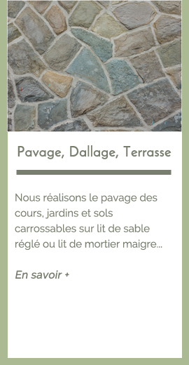 prestations : Pavage, dallage, terrasse| Les Jardins du Buis David Lopes 73330 Le Pont de Beauvoisin, Domessin