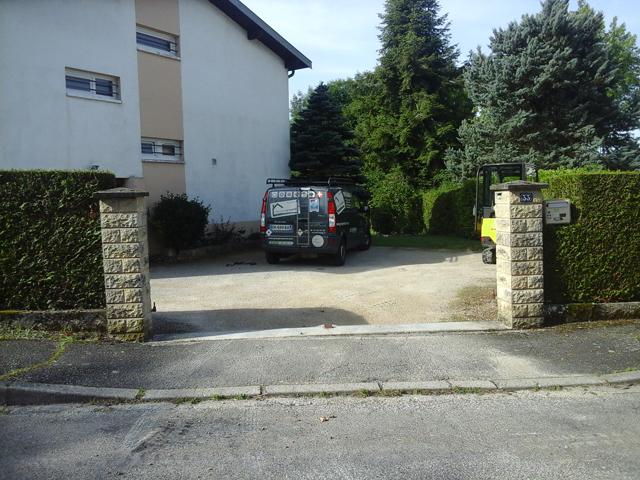 Seuil de portail et mur - AVANT - Jardins du buis