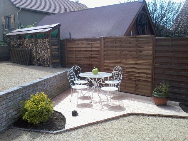 Création de terrasse bois et cour, Les Jardins du Buis, 73, 38, Domessin