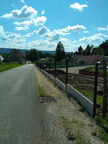 1 - Clôture et panneaux rigides à Domessin - Les Jardins du Buis paysagiste Savoie Isère