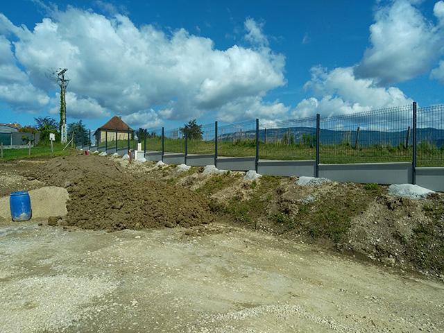 2 - Clôture et panneaux rigides à Domessin - Les Jardins du Buis paysagiste Savoie Isère