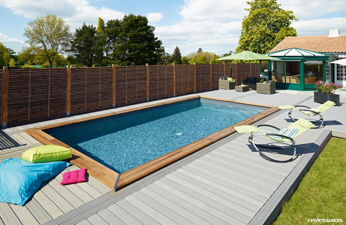 Amenagement Jardin Avec Piscine Bois piscine en bois - jardins du buis, 73330, 38480, avec piveteau
